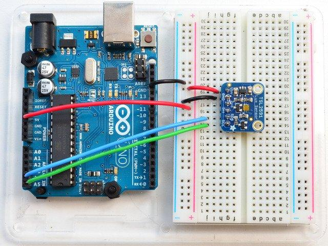 Wiring & Test You can easily wire this breakout to any microcontroller, we'll be using an Arduino.