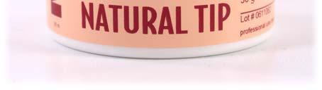 Uses for Natural Tip are: An American Manicure look over gels, acrylics and wraps.