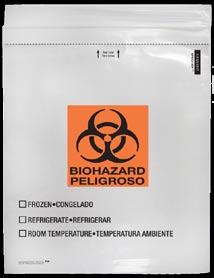 SPECI-Zip Reclosable Biohazard Bags SPECI-ZIP Reclosable Biohazard Bags The