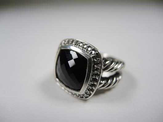 DAVID YURMAN Sterling Albion Black Onyx and Diamond Ring, Size 6 Retails for $900, sold in one day for $499. 03/04/17 The Albion is a classic Yurman statement ring.
