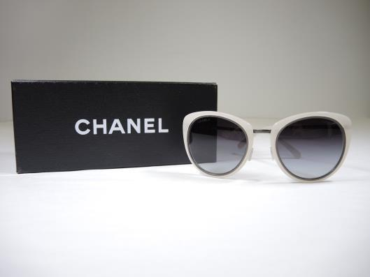 CHANEL Pearl White 4202 Sunglasses Retailed for $375, sold in one day for $249. 02/18/17 These sunglasses will make any day, even one you are hiding from, glamorous.