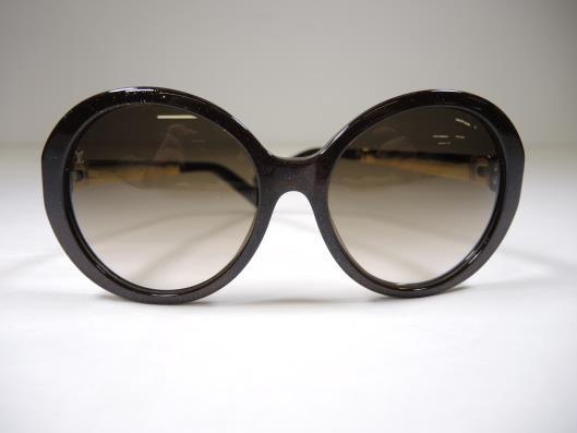 LOUIS VUITTON Metallic Brown Petit Soupcon Rond Sunglasses Retailed for $675, sold in one day for $299.
