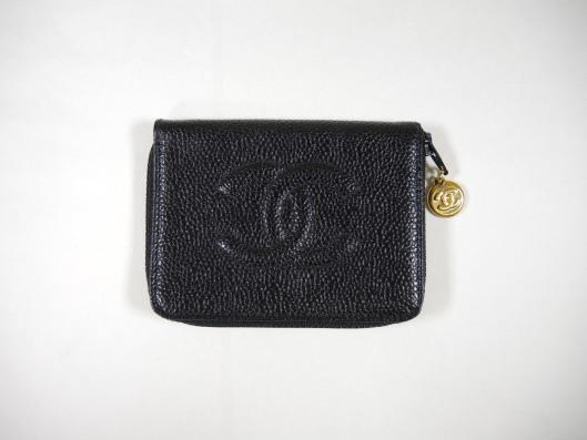 CHANEL Black Caviar Leather Key Holder Retailed for $400, sold in one day for $249.