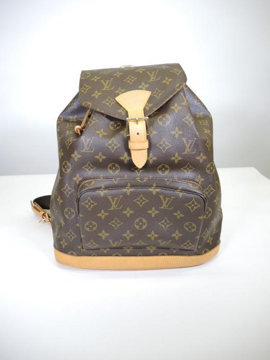 LOUIS VUITTON Montsouris GM Backpack Retailed for $1,300, sold in one day for $699. 05/27/17 Backpacks are the ultimate grab and go accessory, you can stay hands free all day long!