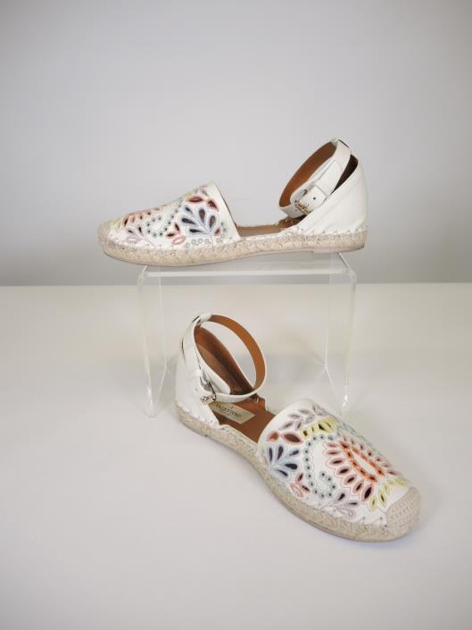 VALENTINO Floral Embroidered Espadrille Flats Size 7 Retailed for $900, sold in one day for $249.