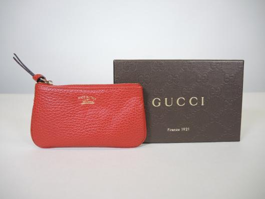 GUCCI Red Leather Key Holder Retailed for $250, sold in one day for $99.