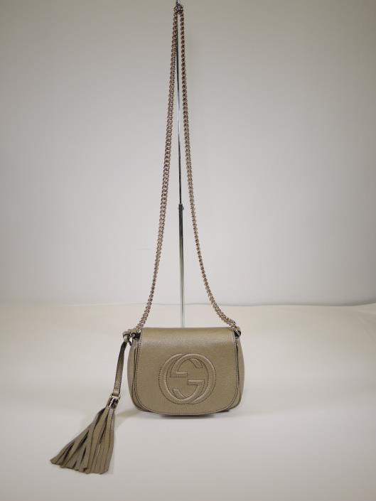 GUCCI Soho Chain Crossbody Retailed for $895, sold in one day for $649.