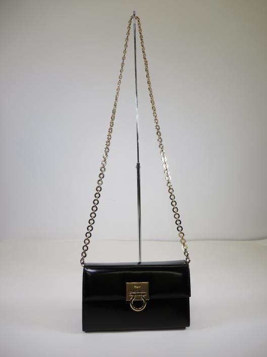 SALVATORE FERRAGAMO Convertible Box Clutch or Crossbody Purse Retailed for $1000, sold in one day for $399.