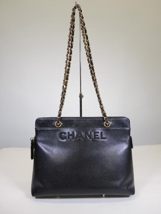 CHANEL 1998 Caviar Tote Sold in one day for $1800. 04/22/17 Another vintage treasure from Chanel is this sleek and lady like shoulder bag in a flawless black caviar leather.