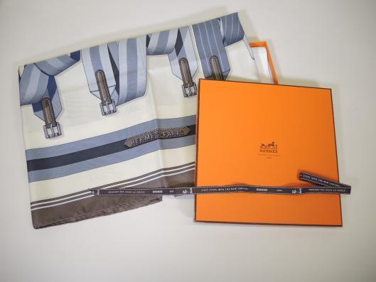 HERMÈS Sangles Scarf by J. Metz Sold in one day for $299.