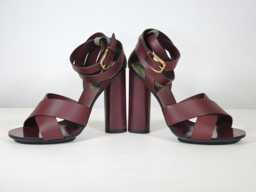 GUCCI Burgundy Red Leather Block Heels, Size 7 Sold in one day for $229.