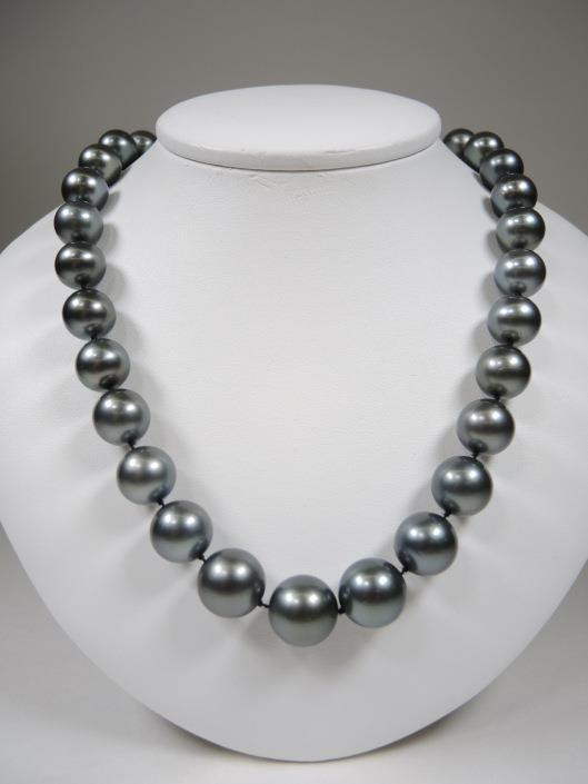 TAHITIAN PEARL 20 Necklace with 14k White Gold and Diamond Clasp Appraised at $10,900, sold in one day for $6000.