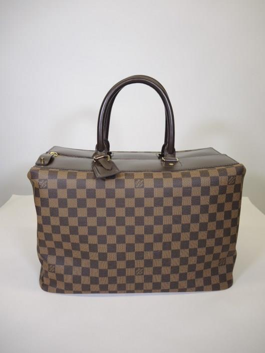 LOUIS VUITTON Damier Greenwich Travel Tote Retailed for $2500, sold in one day for $1000.