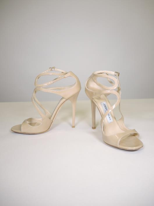 JIMMY CHOO Beige Lang Heels Size 7 Retailed for $795, sold in one day for $279.