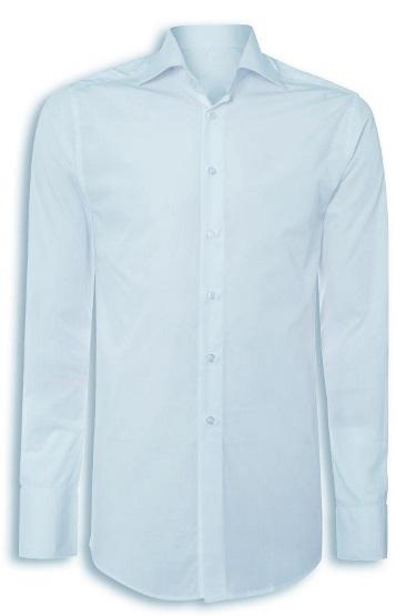 ADMIN/DESK BASED Male Female CRM47 Mens contemporary shirt Classic collar Semi-fi ed Centre back length: 79-84cm (increases with size) 123gsm 97% /3% elastane Sizes: 14 19in collar Colour: Pale blue