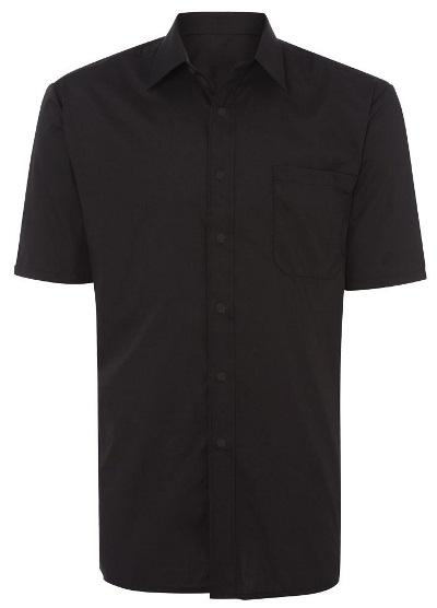 CATERING Male Female CR221 Mens S/S shirt Classic collar Chest Pocket 100gsm 65% polyester/35%