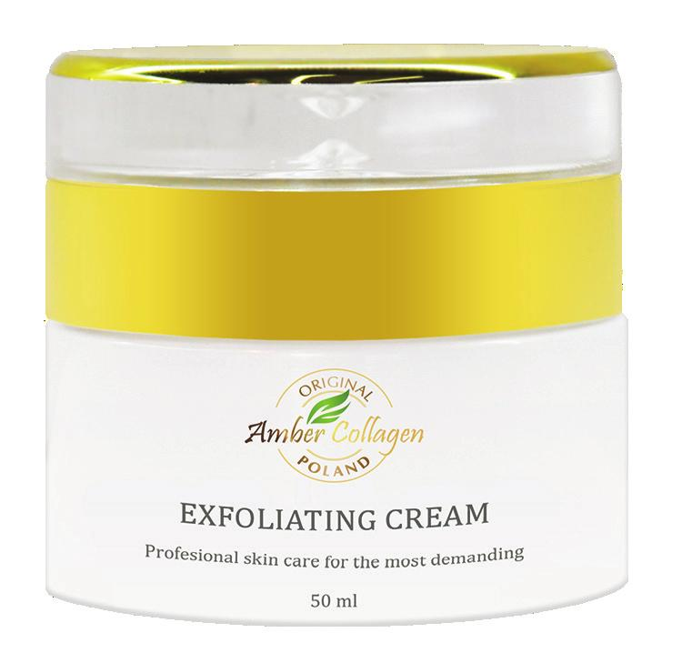Collagen exfoliating for skin cleansing contains amber powder and micronized crushed pearls. Creamy texture of the preparation prevents skin from irritation and dryness.