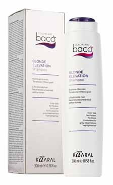 BLONDE ELEVATION To mantain a beautiful blonde or enhance gray/white hair. BLONDE ELEVATION SHAMPOO Silk Proteins The Shampoo is formulated to enhance blonde hair and add tone to gray/white hair.
