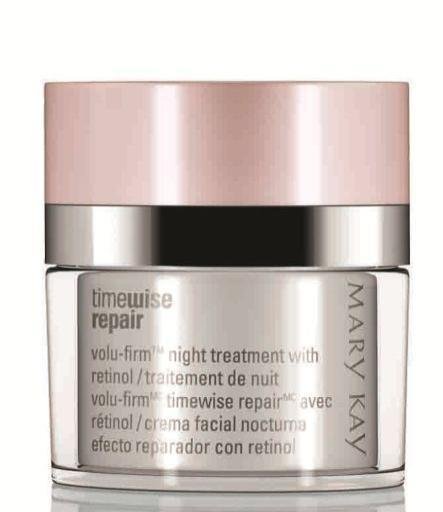 What are the key benefits of Volu-Firm Night Treatment with Retinol?