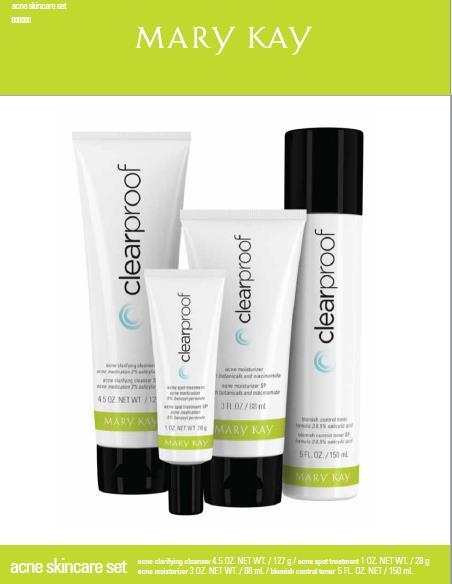 Clear Proof Acne Skin Care Includes: Clarifying Cleansing Gel* Blemish Control Toner* Acne
