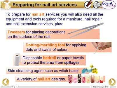 of nail extension and nail art services and how they work appreciate the importance of keeping up-to-date with new ideas and trends. 10.