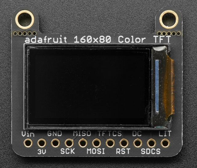 Pinouts This color display uses SPI to receive image data. That means you need at least 4 pins - clock, data in, tft cs and d/c.