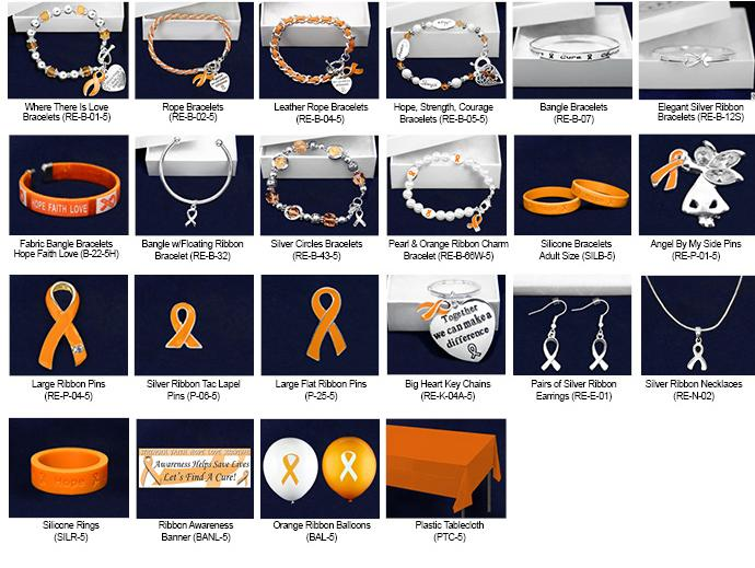 Orange Ribbon Fundraising Kits FUNDRAISING KITS: If you are trying to raise a bunch of money, then consider one of our Fundraising Kits. All our great items in one easy to sell kit.