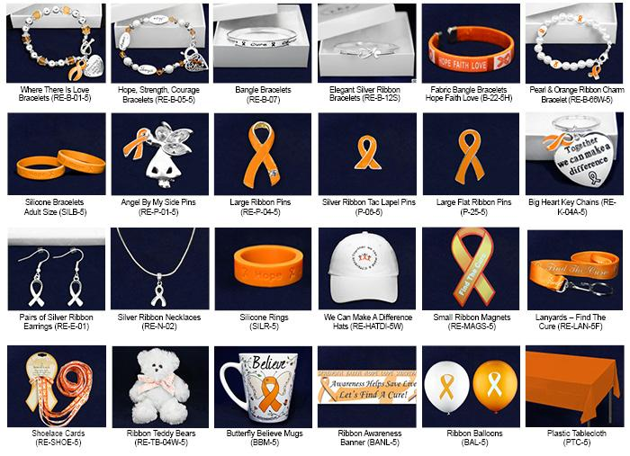 Orange Ribbon Fundraising Kits Orange Ribbon Mixed Item Kit.