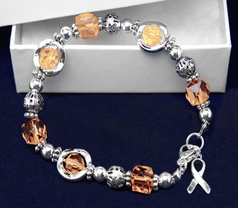 Beautiful sterling silver plated bracelet with 3 charms that say Hope, Strength, Courage and a decorative heart