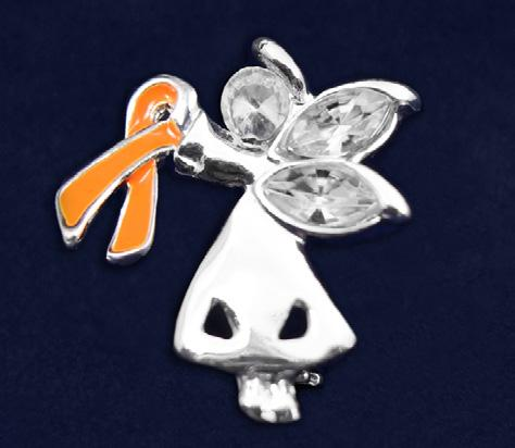 Orange Ribbon Pins Angel By My Side Pin. This is truly a beautiful pin.