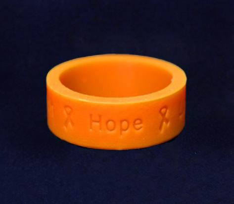 Difference with an orange ribbon. The heart is approximately 1.5 inches