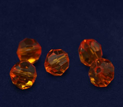 These orange acrylic beads are 8 mm and are perfect for making your own bracelets.