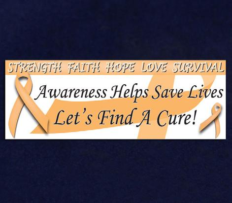 Orange ribbons with the words Hope, Faith, Love (RIB-5) Qty: 10 yards. Small Thank You Cards.