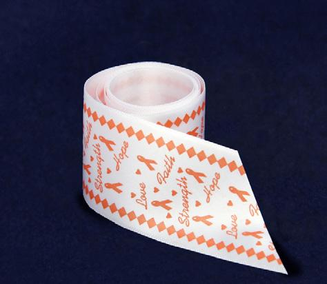 (ST-03-5) Qty: 100/roll. Orange Ribbon Banner.