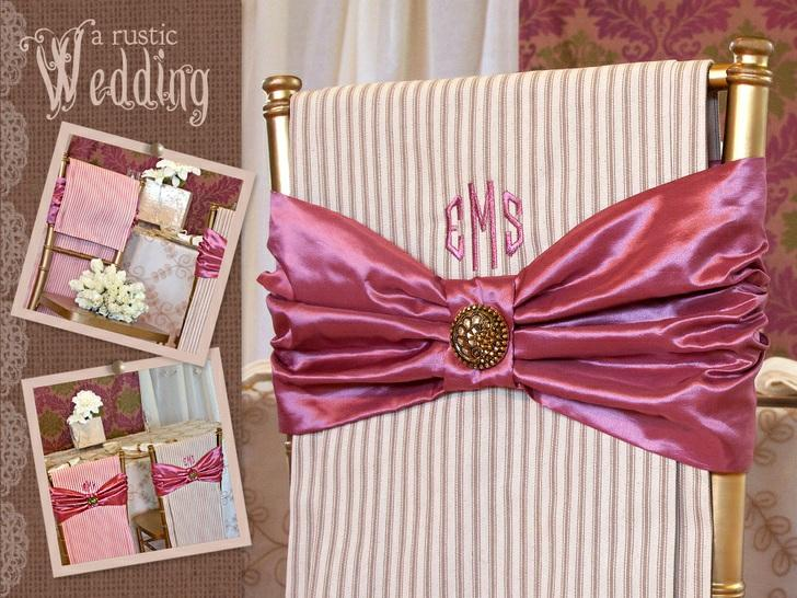 Published on Sew4Home A Rustic Wedding with Fabric.com: Bride & Groom Chair Covers Editor: Liz Johnson Monday, 04 March 2013 1:00 Welcome to our latest series from Fabric.com: A Rustic Wedding.