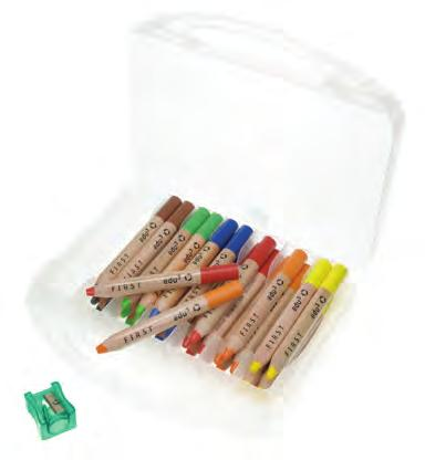 6 single colours Extrasoft wax crayon lead.