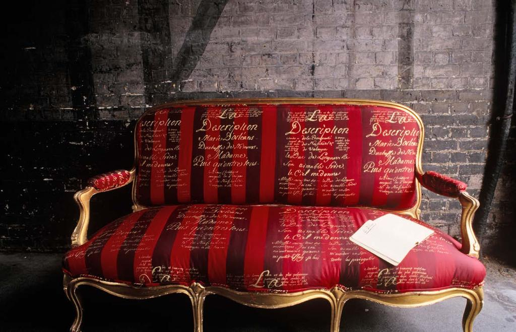 INSITUSCRIPT ref:cq20 French 19th C gilded sofa from CQ collections,