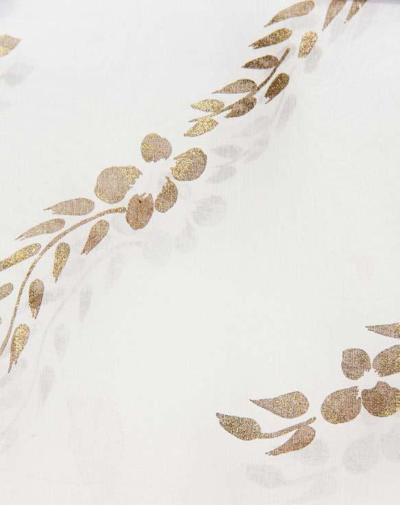 COLLECTIONSFLOWERS CQF5 Sand organza with antique flower antique gold ordering