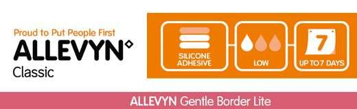 ALLEVYN Gentle Border Lite Advanced Foam Wound Dressings Description ALLEYVN Gentle Border Lite for exudate management ALLEVYN Gentle Border Lite Dressings have been specially designed for people