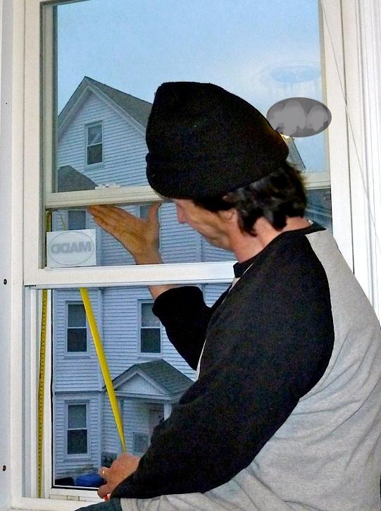 to shut the lower sash easily for the winter months.