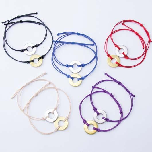 BRACELETS REFILL CLASSIC Brass Token SET OF 10 BRACELETS COMBO: BRACELETS PER COLOR SET SKU#: $60 MSRP $30 WHOLESALE PER SET STRING COLOR: MAKER SUPPLIES SKU#: BraClaBlaBraBlankx10