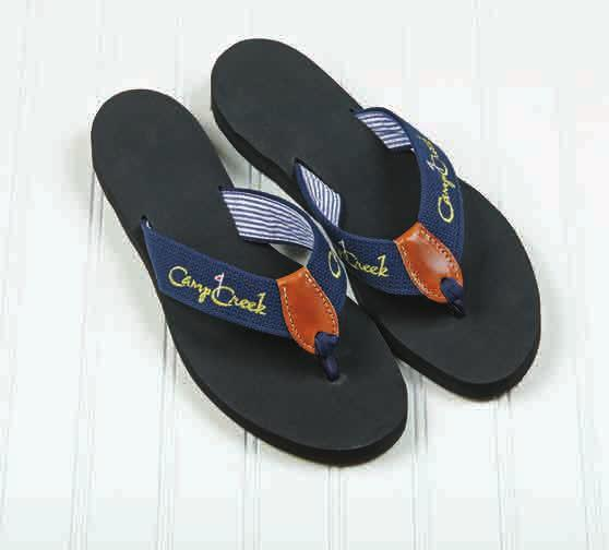 Sandal) One Embroidered Logo on