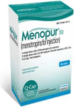 Medications for Ovulation Induction FSH Medications: Menopur (75iu) SUPPLIES: Alcohol wipes, gauze pad, 3cc syringe, Q-Cap(s), 27g or 30g ½ inch needle, medication and diluent, sharps container. 1.