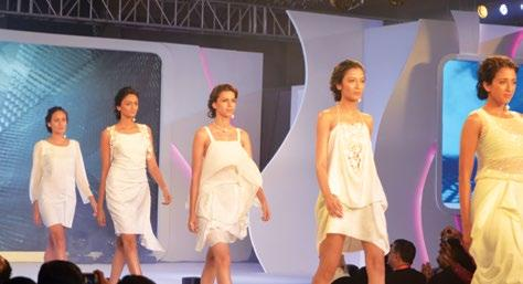 TraiLblazer PANCHTATVA walks the ramp LIVA s consumer appeal is being topped with a brand ambassador a renowned fashion queen.
