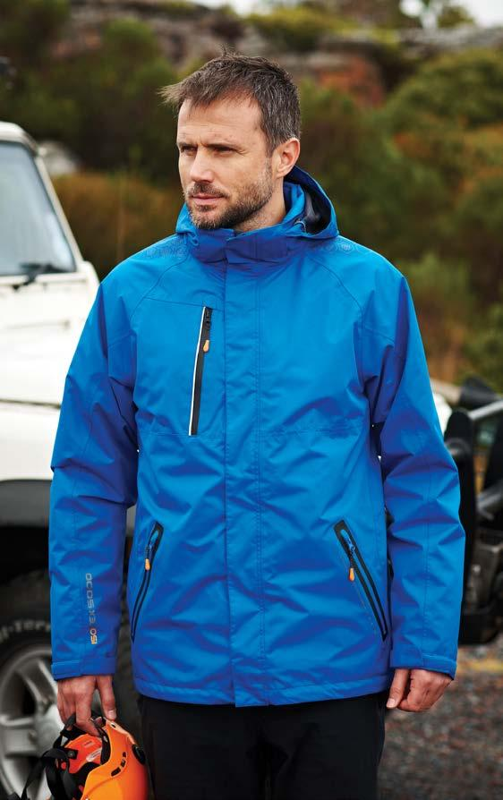 RE137 Evader 3-in-1 X-pro RE130 221 RE122 223 KA657 226 Fabric Information Waterproof and breathable Isotex 5000 textured polyester jacquard Atl