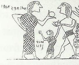 Haynes, 2000; 22. Figure 8: Tragliatella oinochoe: Husband, wife and daughter.