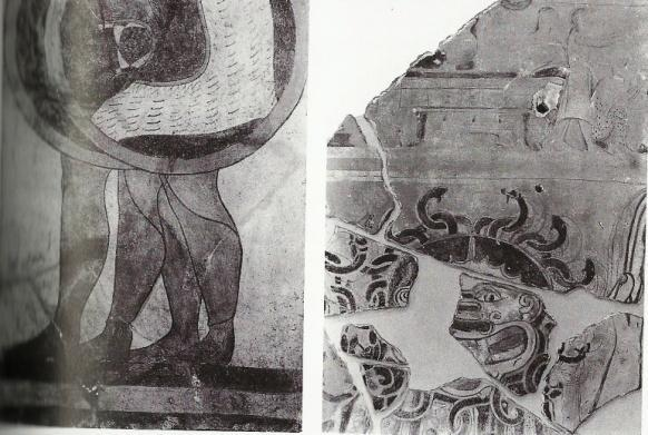 P a g e 91 Figure 25: Cerveteran fragments of terracotta wall-paintings found within the city precincts.