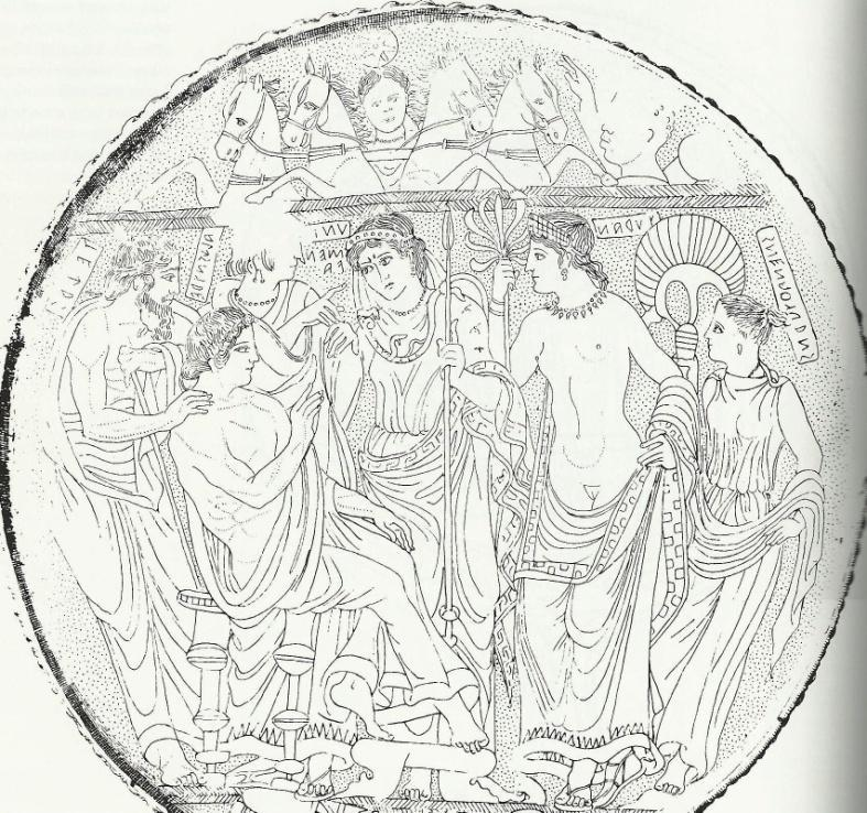 P a g e 97 Figure 39: Todi Mirror: Judgment of Paris.
