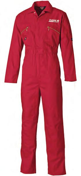 CAS489 Redhawk Zip Front Coverall Two way metal zip front with studded over placket Double pencil pocket on sleeve Two zipped chest