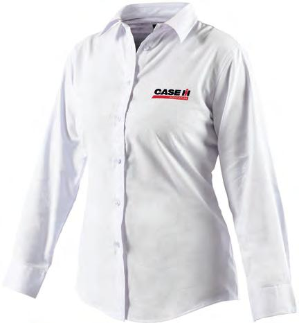 n 5 White CAS6450 Women s Oxford Weave Shirt Inverted pleat in back for ease of